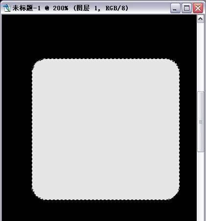 再新建个图层,用矩形选框工具,画出长方形的刻度,填充灰色,在图层